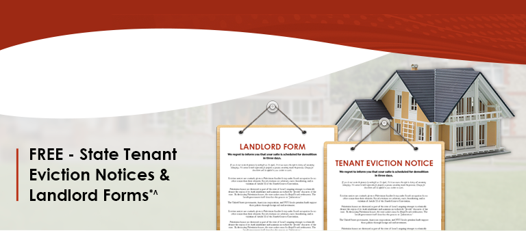 FREE - State Tenant  Eviction Notices &  Landlord Forms